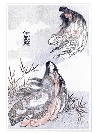 Póster  A witch and a woman - Katsushika Hokusai