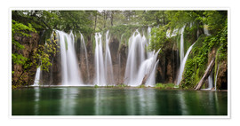 Póster  Paradise like waterfall in plitvice - Andreas Wonisch