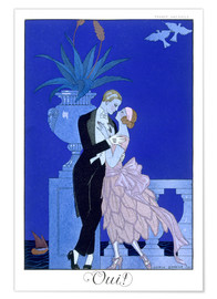 Póster  Yes! 1921 - Georges Barbier