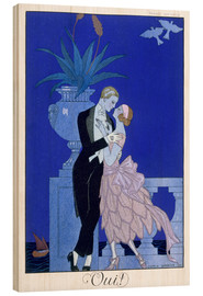 Cuadro de madera  Yes! 1921 - Georges Barbier