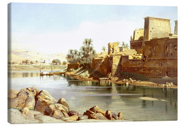 Lienzo  Temple of Isis at Philae - Carl Friedrich Heinrich Werner