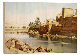 Cuadro de madera  Temple of Isis at Philae - Carl Friedrich Heinrich Werner