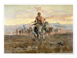 Póster  Stolen Horses, 1911 - Charles Marion Russell