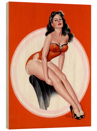 Madera  Brunette in Red Bathing Suit - Peter Driben