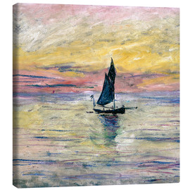 Lienzo  Sailboat evening - Claude Monet