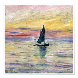 Póster  Sailboat evening - Claude Monet