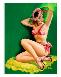 Póster  Pin Up with Hat - Peter Driben