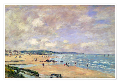Póster Beach at Trouville