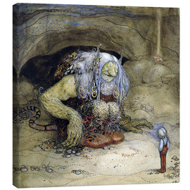 Lienzo  The Troll and the Boy - John Bauer
