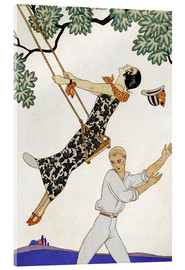 Cuadro de metacrilato  The Swing, 1920s - Georges Barbier