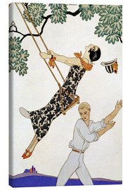 Lienzo  The Swing, 1920s - Georges Barbier