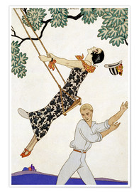 Póster  The Swing, 1920s - Georges Barbier