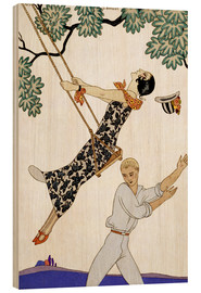 Cuadro de madera  The Swing, 1920s - Georges Barbier