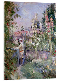 Cuadro de metacrilato  Young Boy in the Hollyhocks - Berthe Morisot