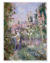 Póster Young Boy in the Hollyhocks