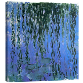 Lienzo  Water Lilies and Weeping Willow Branches - Claude Monet