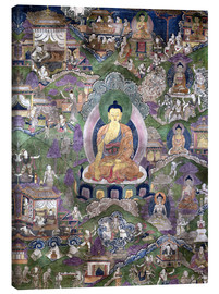Lienzo  Thangka of the Buddha - Tibetan School