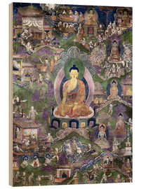 Cuadro de madera  Thangka of the Buddha - Tibetan School