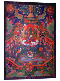 Aluminio-Dibond  Thangka depicting Green Tara - Tibetan School