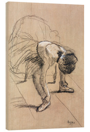 Madera  Seated Dancer Adjusting her Shoes - Edgar Degas