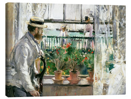 Lienzo  Manet on the Isle of Wight - Berthe Morisot