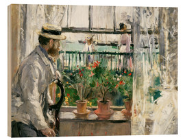 Cuadro de madera  Manet on the Isle of Wight - Berthe Morisot