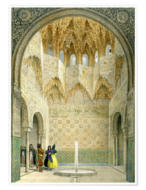 Póster  The Hall of the Abencerrages, the Alhambra, Granada, 1853 - Léon Auguste Asselineau