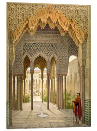 Metacrilato  The Court of the Lions, the Alhambra, Granada, 1853 - Léon Auguste Asselineau