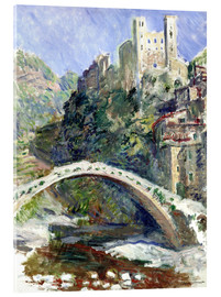 Cuadro de metacrilato  Castle of Dolceacqua - Claude Monet