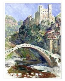 Póster  Castle of Dolceacqua - Claude Monet