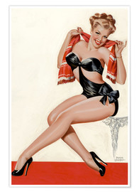 Póster Silk Stockings and High Heels