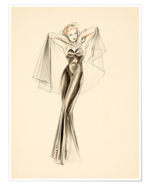 Póster  Evening Dress study - Alberto Vargas