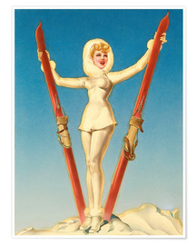 Póster  Ski Troops Girl - Alberto Vargas