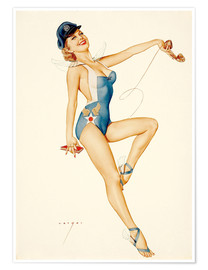 Póster  US Air Force Girl - Alberto Vargas