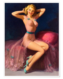Póster  Pin Up in Pink - Art Frahm