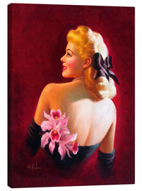 Lienzo  Glamour Pin Up with Pink Orchids - Art Frahm