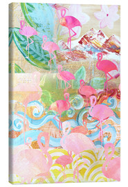 Lienzo  Flamingo Collage - GreenNest
