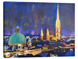 Lienzo  Vienna Skyline at Night with St Stephan - M. Bleichner