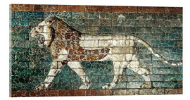 Cuadro de metacrilato  Lion mosaic at the temple of Babylon