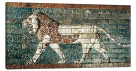 Lienzo  Lion mosaic at the temple of Babylon