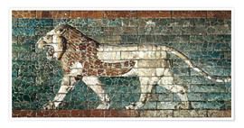 Póster  Lion mosaic at the temple of Babylon