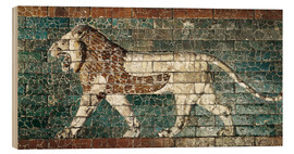 Cuadro de madera  Lion mosaic at the temple of Babylon