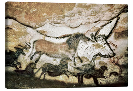 Lienzo  Cave paintings in the cave of Lascaux