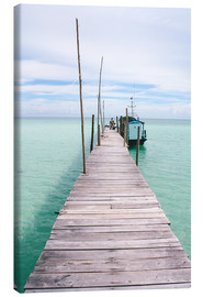 Lienzo  Wooden jetty on tropical exotic island - Alejandro Moreno de Carlos