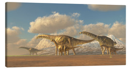 Lienzo  A herd of Argentinosaurus dinosaurs - Corey Ford