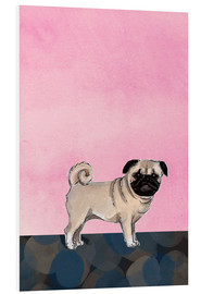 Cuadro de PVC  Pug dog - Martine Vuitton-Serape