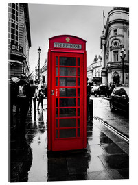 Cuadro de metacrilato  Red telephone booth in London - Edith Albuschat