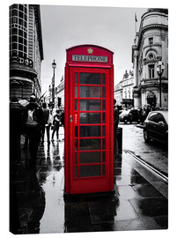 Lienzo  Red telephone booth in London - Edith Albuschat