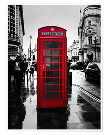 Póster  Red telephone booth in London - Edith Albuschat