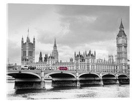 Cuadro de metacrilato  Westminster bridge with look at Big Ben and House of parliament - Edith Albuschat